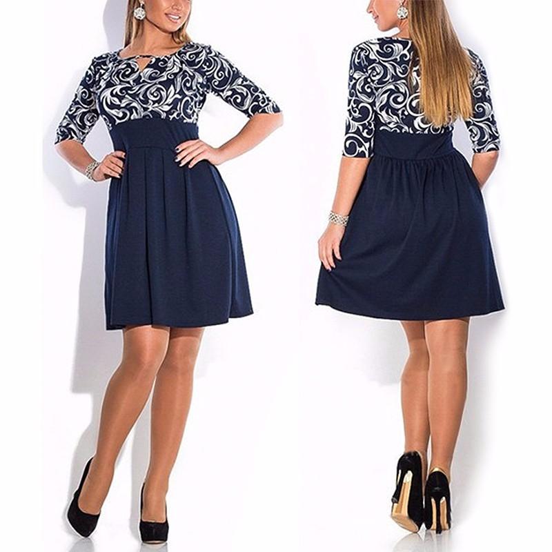 Krátke šaty pre molet - veľ. L-6XL - Obrázok č. 1