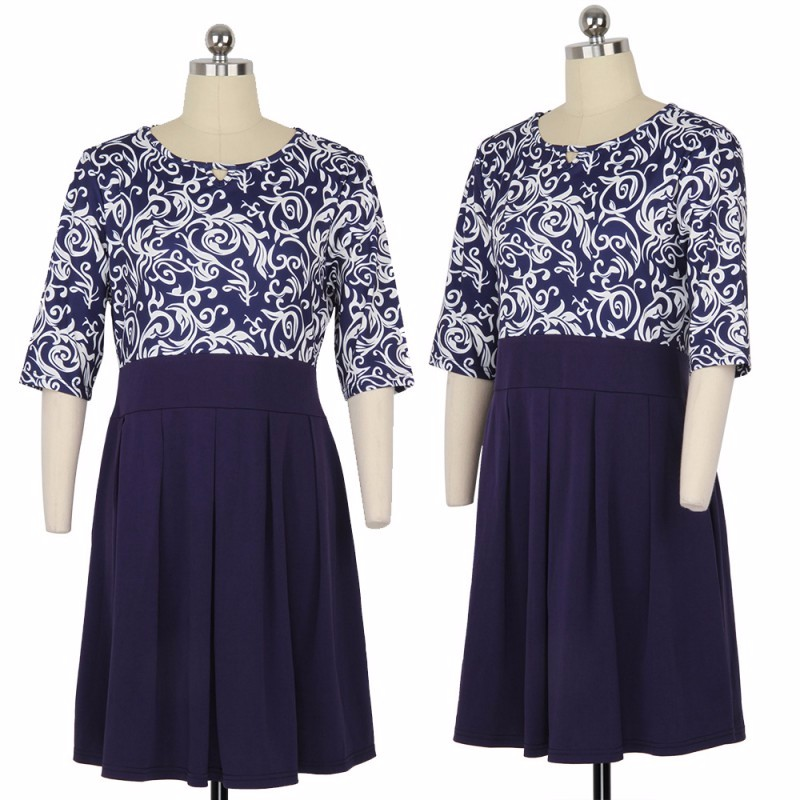 Krátke šaty pre molet - veľ. L-6XL - Obrázok č. 3