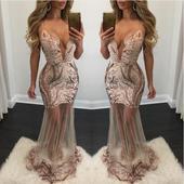 Dlhé spoločenské šaty - 4 veľkosti, 36