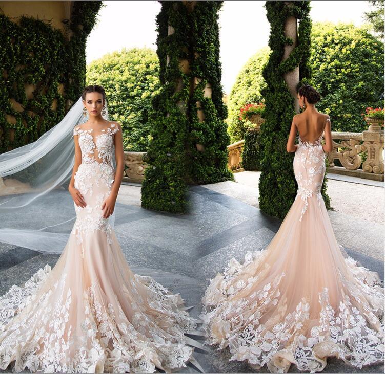 Dlhé svadobné šaty - 11 veľkostí, 3 farby - Obrázok č. 1