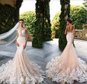 Dlhé svadobné šaty - 11 veľkostí, 3 farby, 38