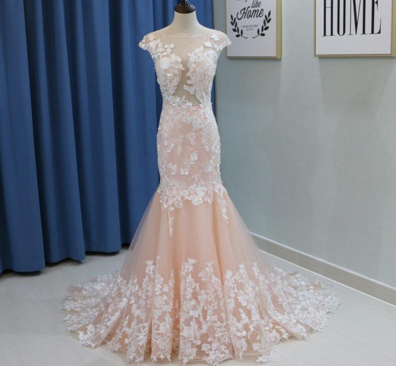 Dlhé svadobné šaty - 11 veľkostí, 3 farby - Obrázok č. 2