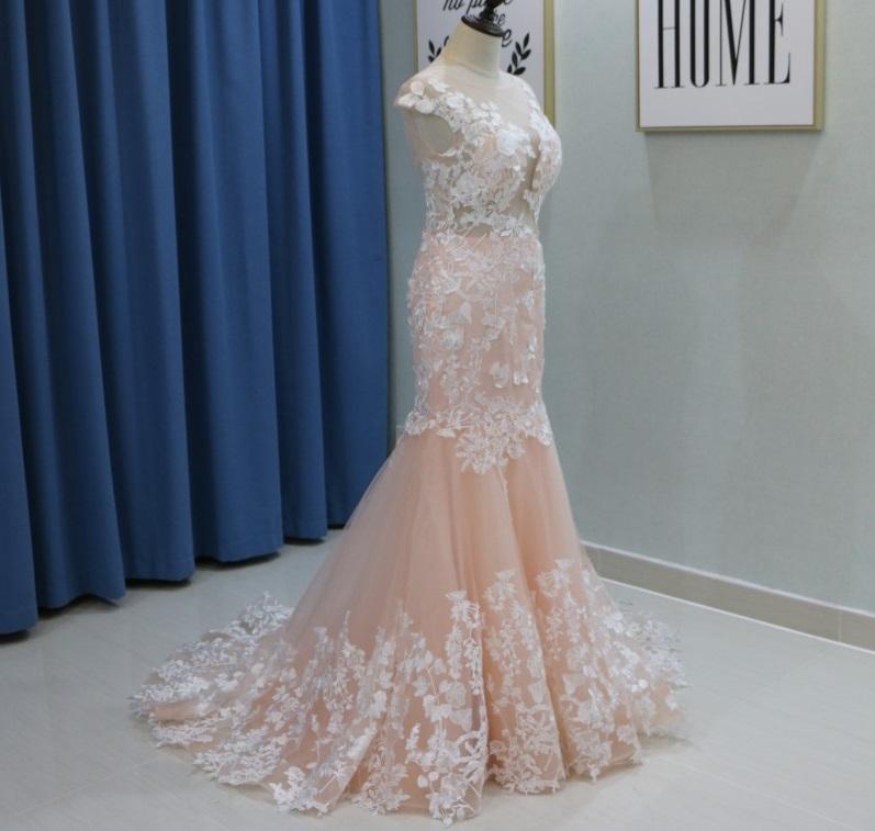 Dlhé svadobné šaty - 11 veľkostí, 3 farby - Obrázok č. 3