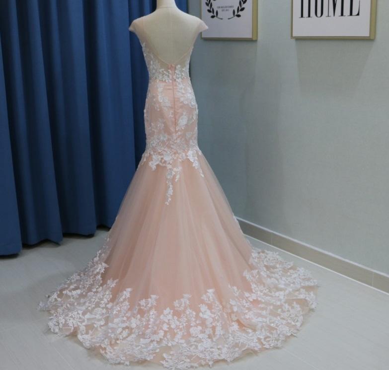Dlhé svadobné šaty - 11 veľkostí, 3 farby - Obrázok č. 4