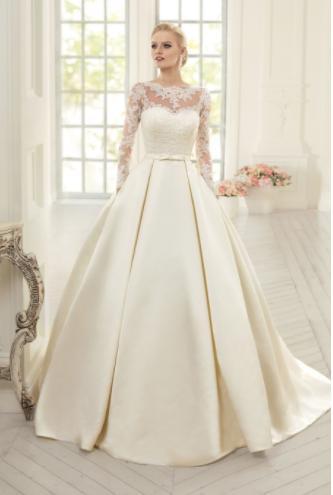 Dlhé svadobné šaty - 15 veľkostí - 3 farby - Obrázok č. 1