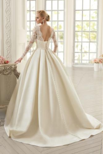 Dlhé svadobné šaty - 15 veľkostí - 3 farby - Obrázok č. 2