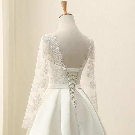 Dlhé svadobné šaty - 15 veľkostí - 3 farby - Obrázok č. 4