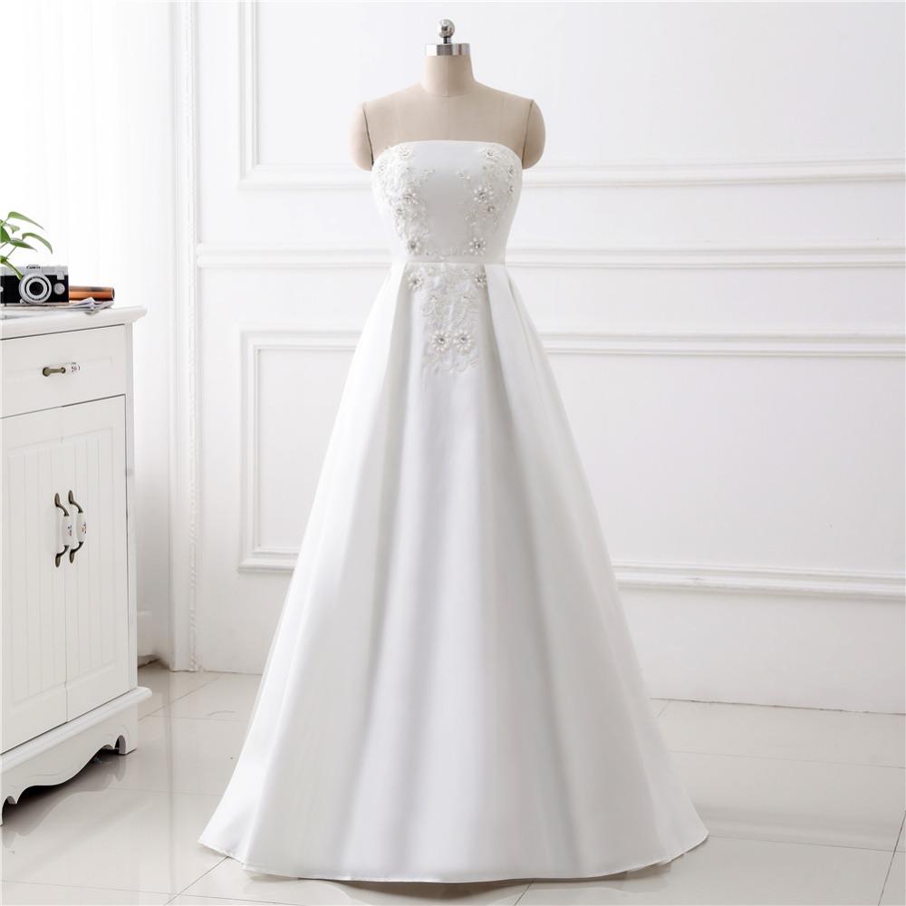 Dlhé svadobné šaty - 14 veľkostí, 2 farby - Obrázok č. 2