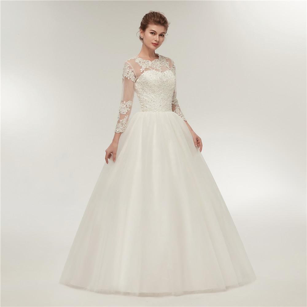 Dlhé svadobné šaty - 12 veľkostí, 2 farby - Obrázok č. 1