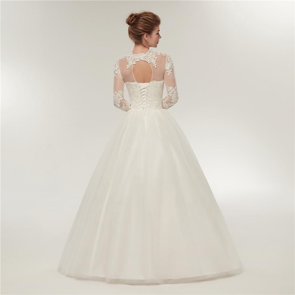 Dlhé svadobné šaty - 12 veľkostí, 2 farby - Obrázok č. 2