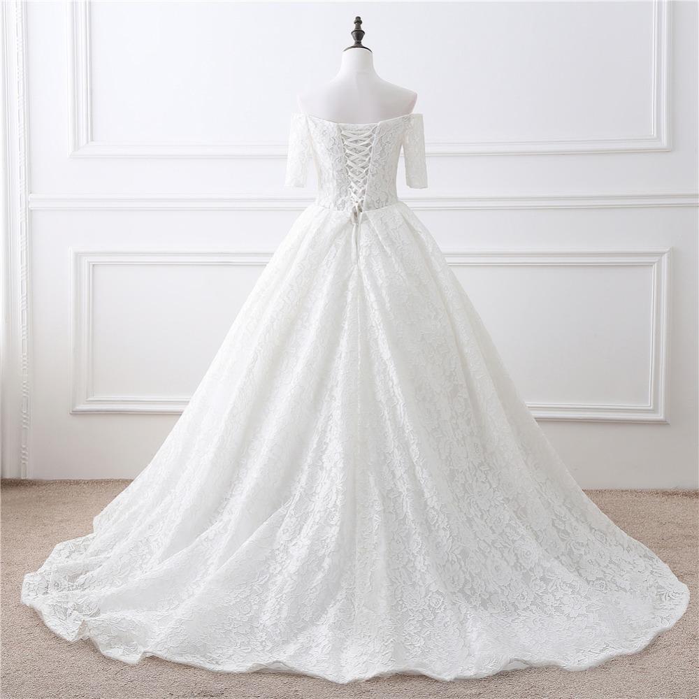 Dlhé svadobné šaty - 12 veľkostí, 2 farby - Obrázok č. 4