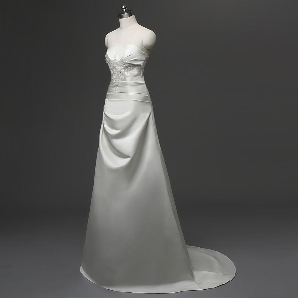 Dlhé svadobné šaty - 6 veľkostí, 2 farby - Obrázok č. 2