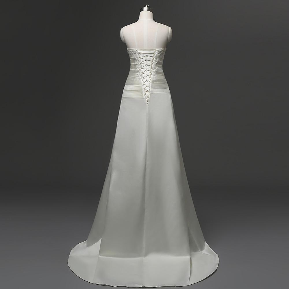 Dlhé svadobné šaty - 6 veľkostí, 2 farby - Obrázok č. 3