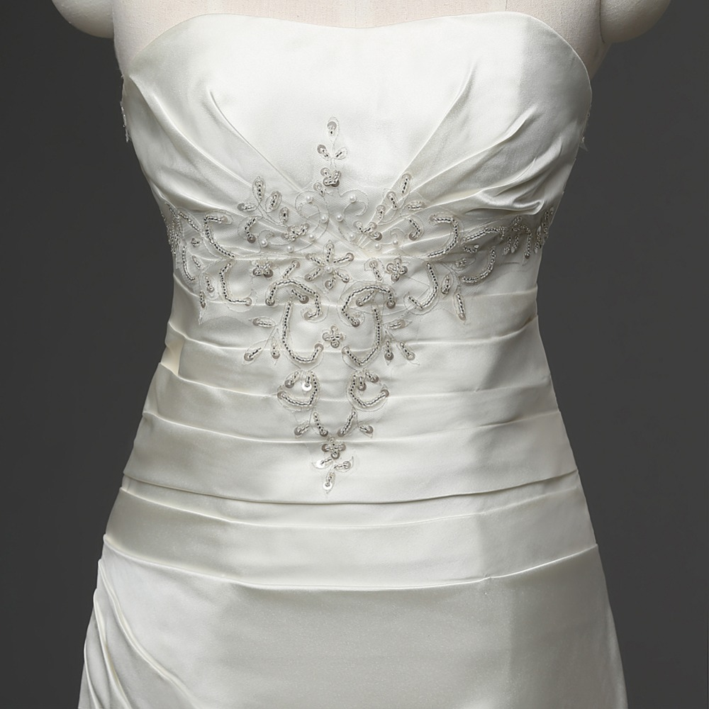 Dlhé svadobné šaty - 6 veľkostí, 2 farby - Obrázok č. 4