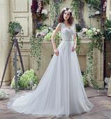 Dlhé svadobné šaty - 13 veľkostí, 2 farby, 52