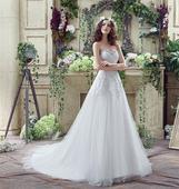 Dlhé svadobné šaty - 12 veľkostí, 2 farby, 48
