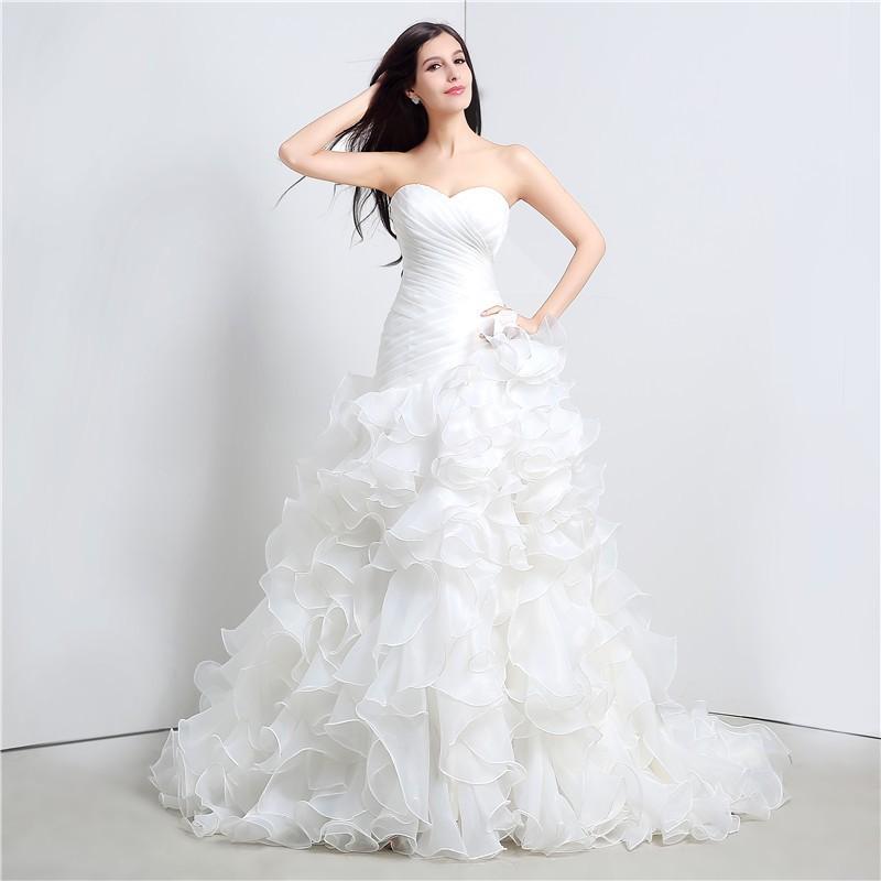 Svadobné šaty s vypínateľnou vlečkou, veľ. 36-40 - Obrázok č. 2
