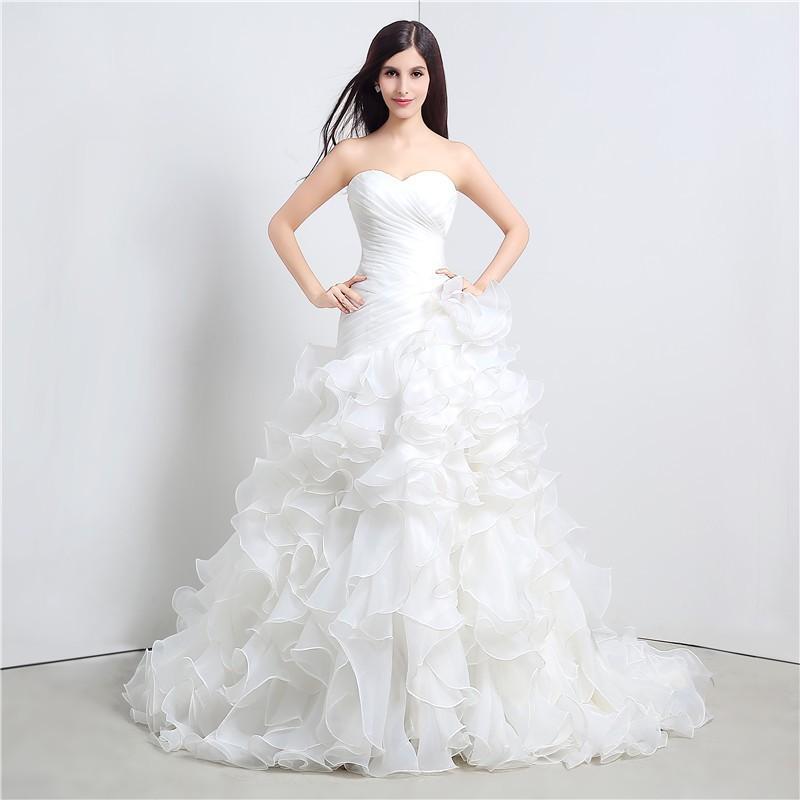 Svadobné šaty s vypínateľnou vlečkou, veľ. 36-40 - Obrázok č. 3
