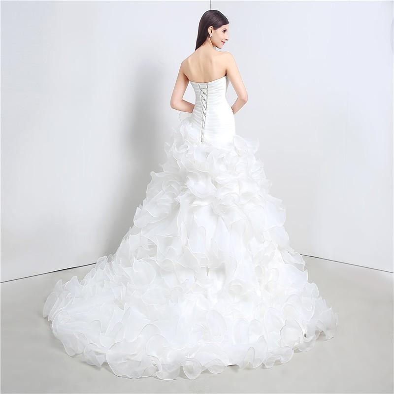 Svadobné šaty s vypínateľnou vlečkou, veľ. 36-40 - Obrázok č. 4