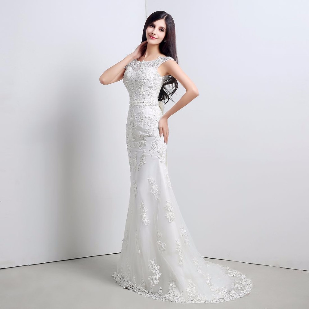 Dlhé svadobné šaty - 11 veľkostí, 2 farby - Obrázok č. 3