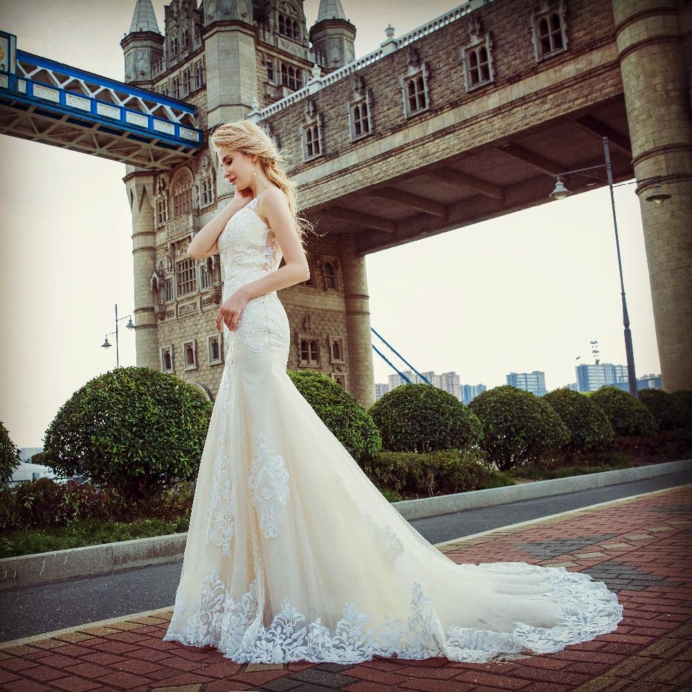 Dlhé svadobné šaty - 13 veľkostí - Obrázok č. 2