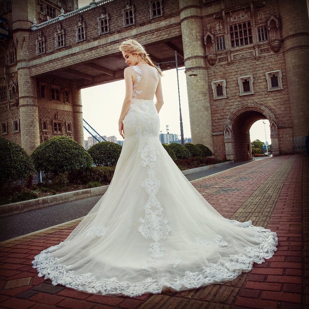 Dlhé svadobné šaty - 13 veľkostí - Obrázok č. 4