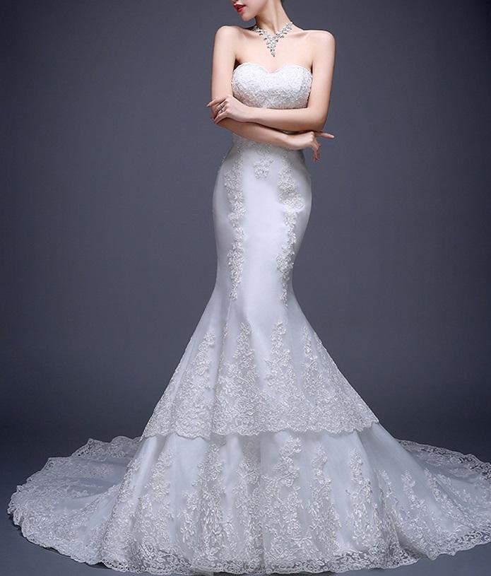 Dlhé svadobné šaty - 5 veľkostí - Obrázok č. 2