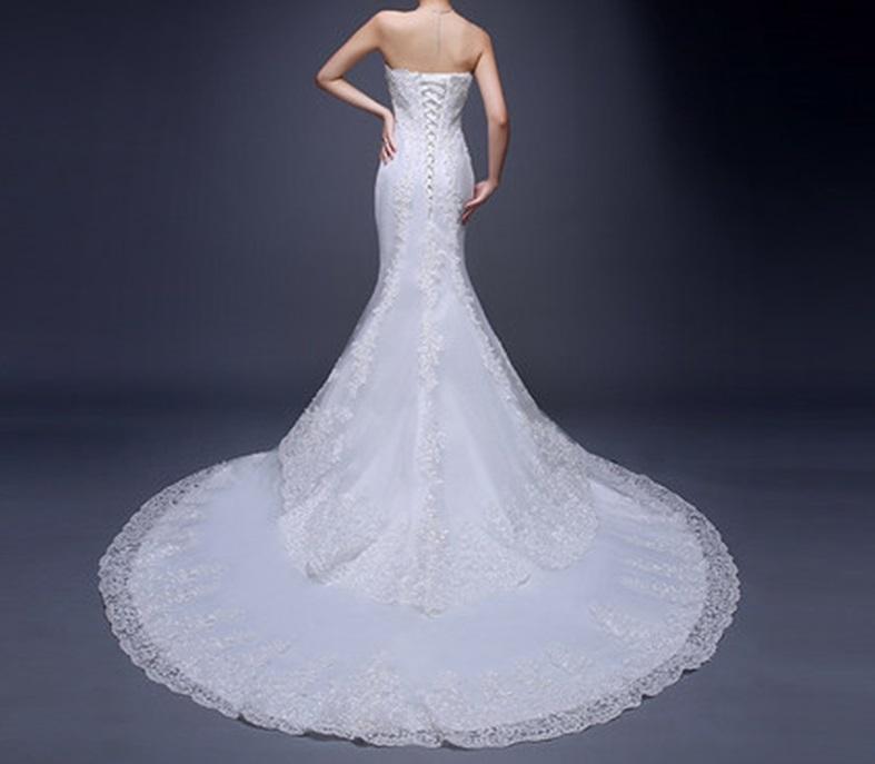 Dlhé svadobné šaty - 5 veľkostí - Obrázok č. 3