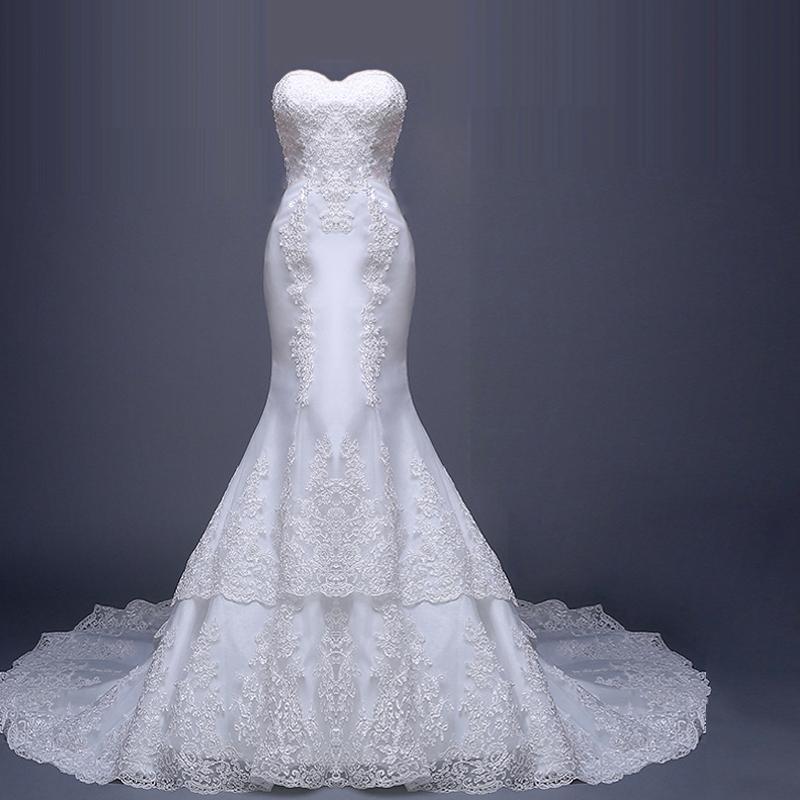 Dlhé svadobné šaty - 5 veľkostí - Obrázok č. 4