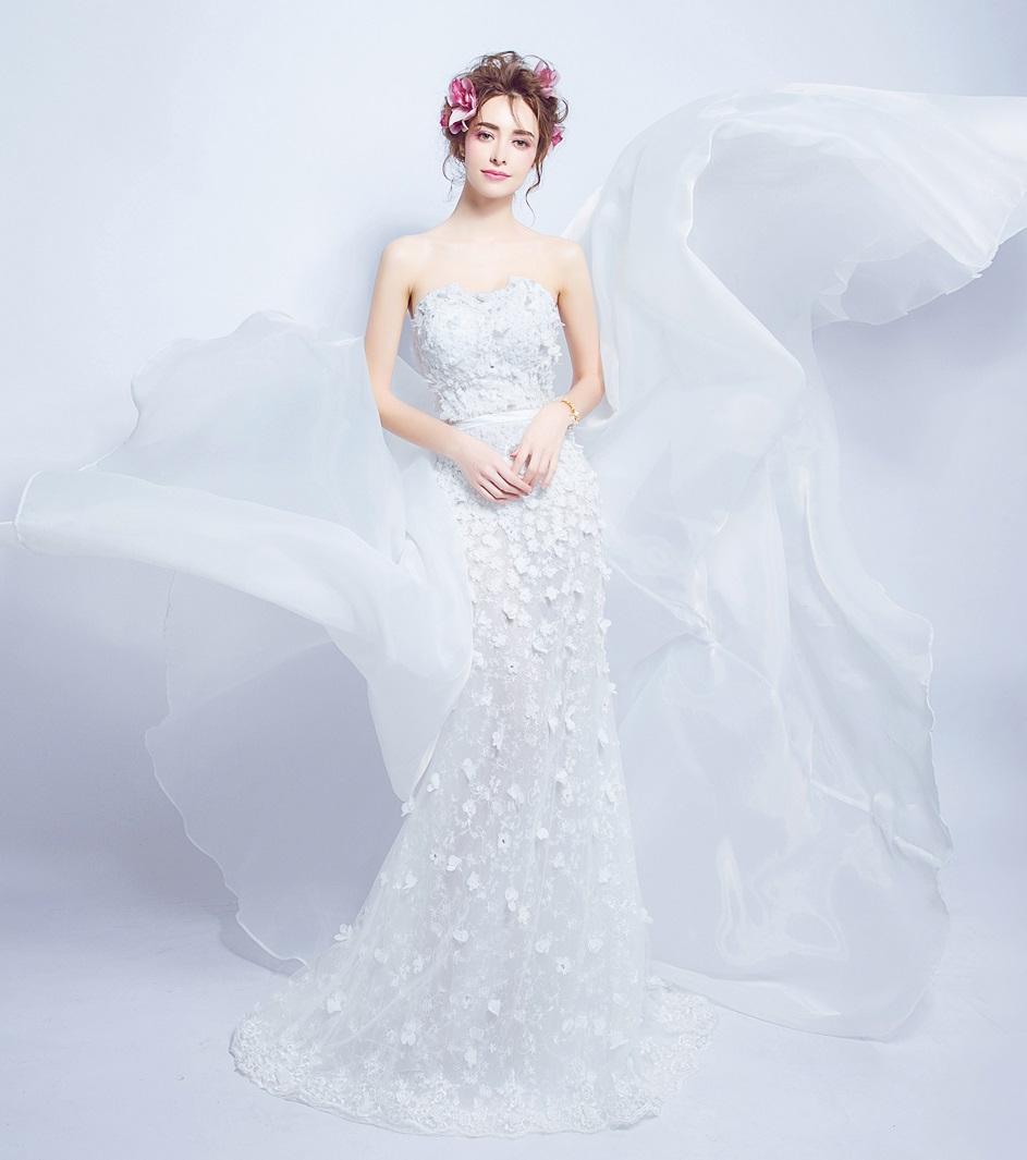 Dlhé svadobné šaty - 7 veľkostí - 2v1 - Obrázok č. 1