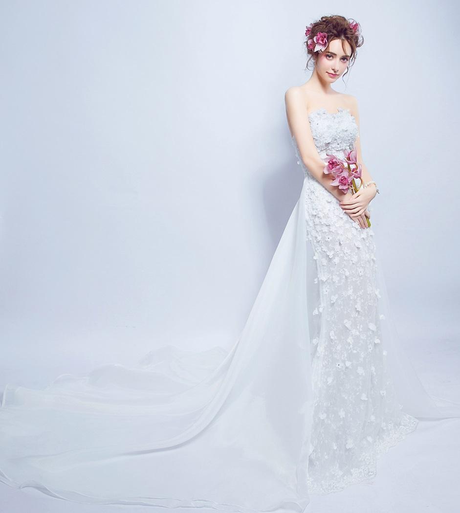Dlhé svadobné šaty - 7 veľkostí - 2v1 - Obrázok č. 2