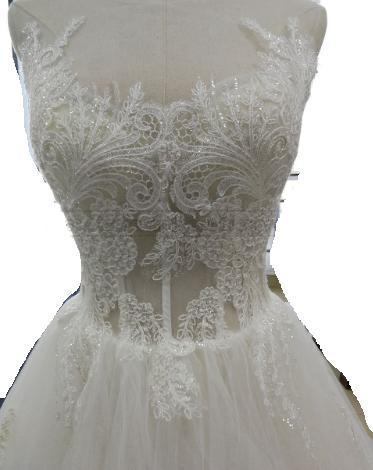 Kvalitné svadobné šaty PC 350 - Obrázok č. 2