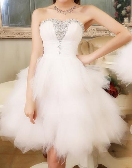 Krátke svadobné/popolnoč. šaty-8 veľkostí - Obrázok č. 4