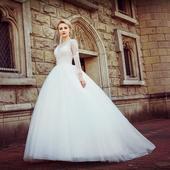 Dlhé svadobné šaty - 13 veľkostí, 2 farby, 42