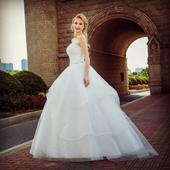 Dlhé svadobné šaty - 13 veľkostí, 2 farby, 44