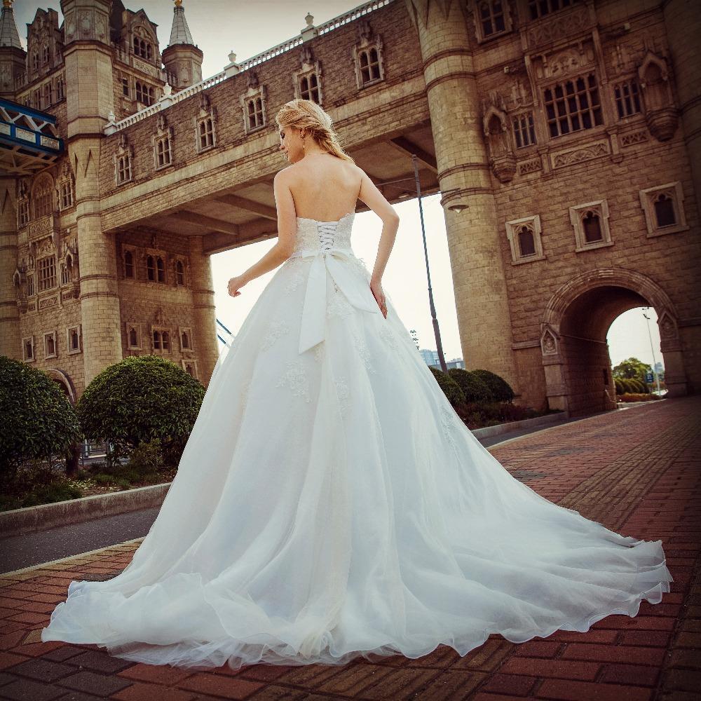 Dlhé svadobné šaty - 13 veľkostí, 2 farby - Obrázok č. 3