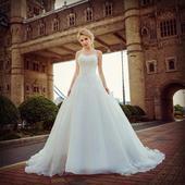Dlhé svadobné šaty - 13 veľkostí, 2 farby, 46