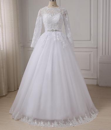 Dlhé svadobné šaty - 7 veľkostí - Obrázok č. 3
