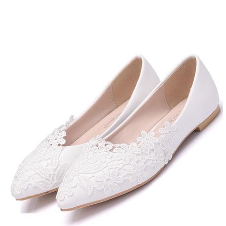 Biele svadobné baleríny k dispozícii ihneď - Obrázok č. 2
