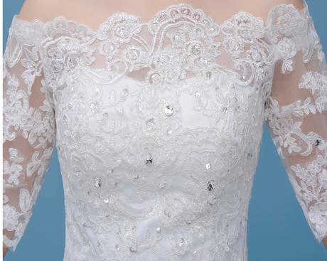 Dlhé svadobné šaty - 8 veľkostí - Obrázok č. 2