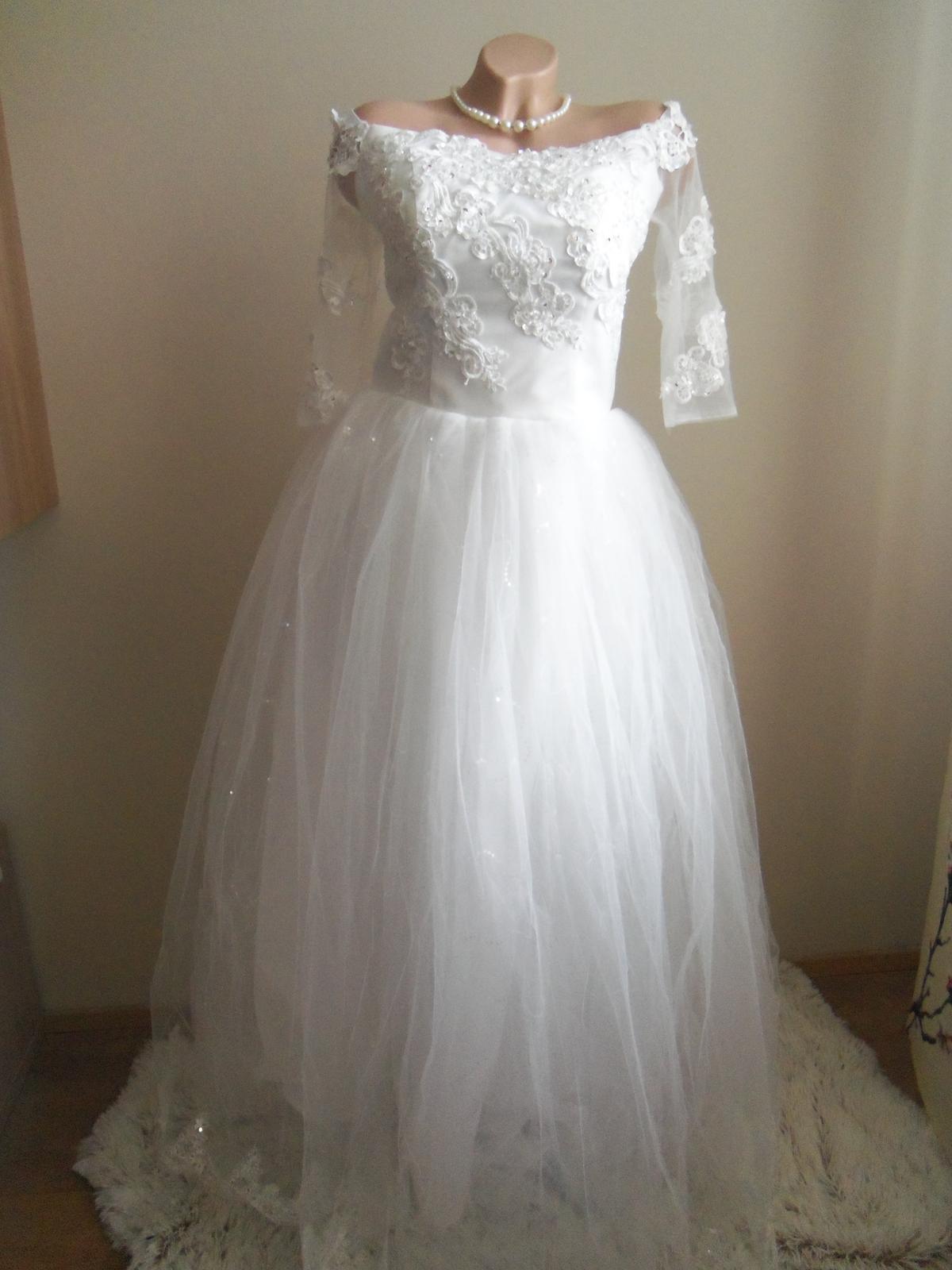 Svadobné šaty EU38-42-regulácia+možnosť rozšírenia - Obrázok č. 1