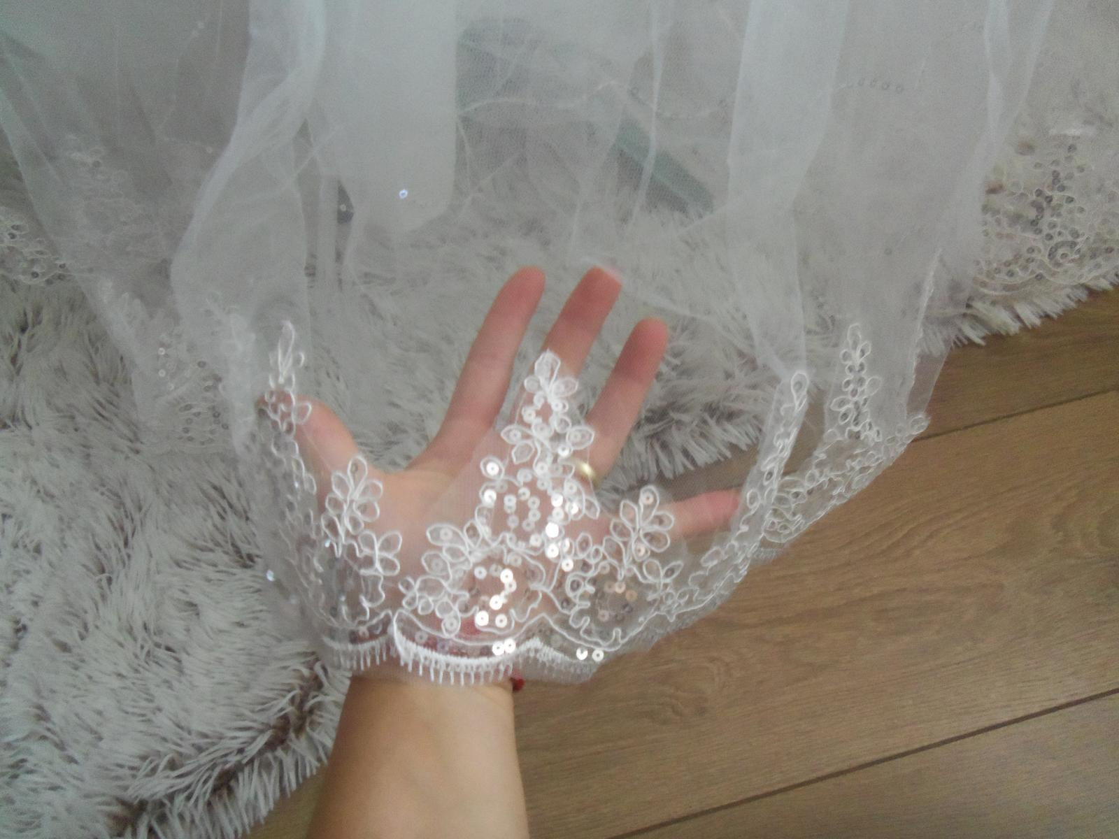 Svadobné šaty EU38-42-regulácia+možnosť rozšírenia - Obrázok č. 2