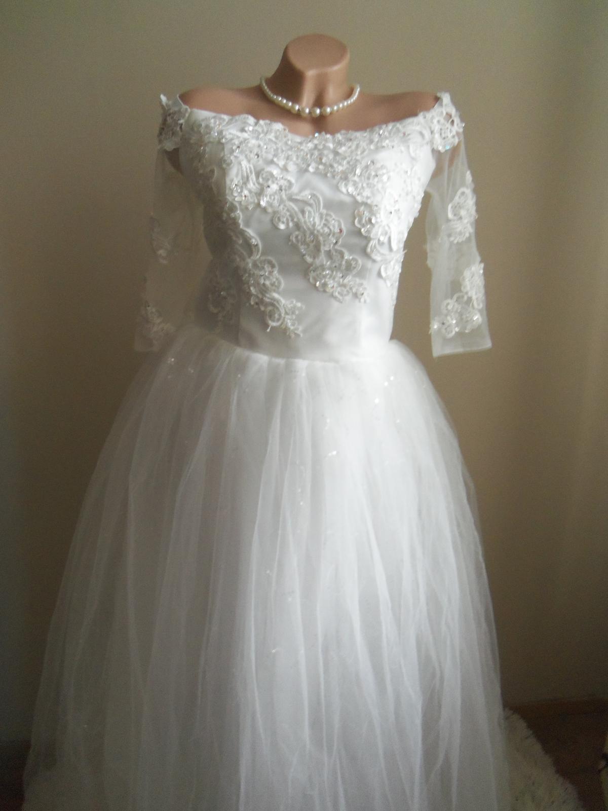 Svadobné šaty EU38-42-regulácia+možnosť rozšírenia - Obrázok č. 4