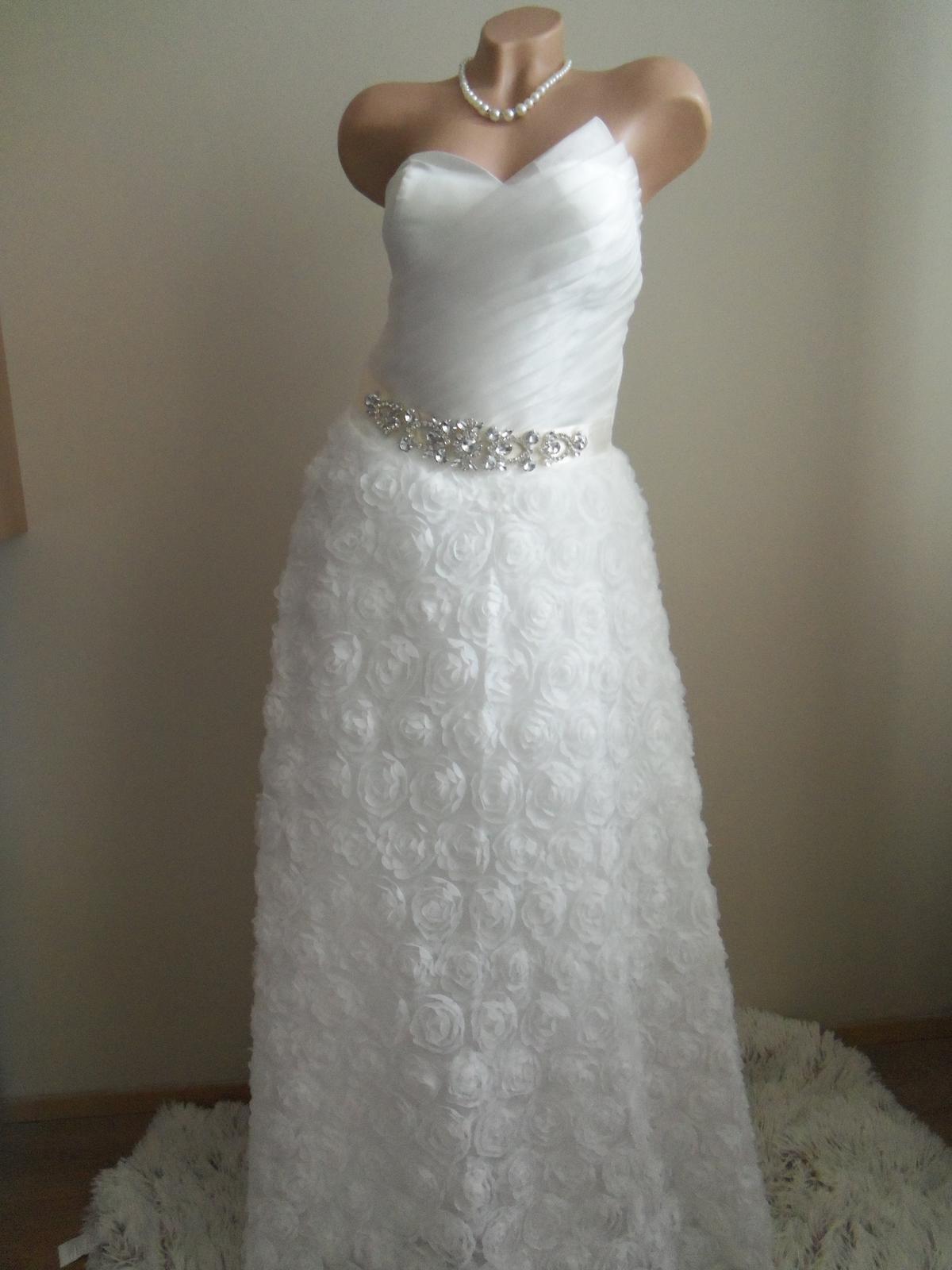 Svadobné šaty EU36-42-regulácia+možnosť rozšírenia - Obrázok č. 1