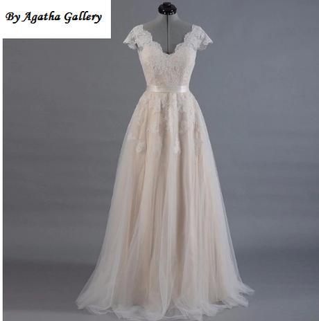 Dlhé svadobné šaty - 12 veľkostí, 5 farieb - Obrázok č. 1