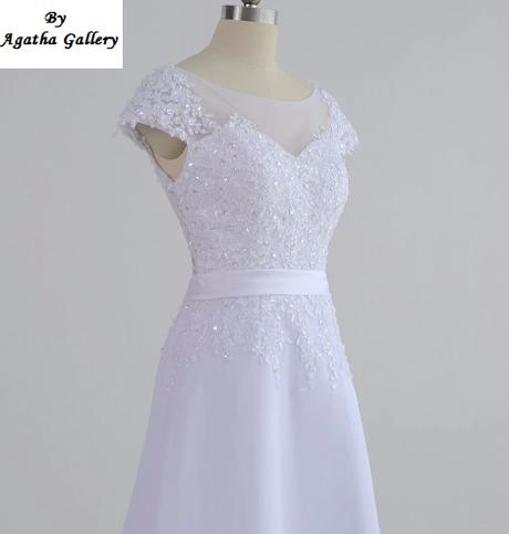 Dlhé svadobné šaty - 12 veľkostí, 16 farieb - Obrázok č. 3
