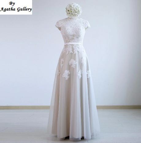 Dlhé svadobné šaty - 14 veľkostí, 5 farieb - Obrázok č. 1