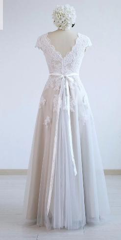 Dlhé svadobné šaty - 14 veľkostí, 5 farieb - Obrázok č. 3