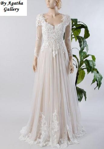Dlhé svadobné šaty - 12 veľkostí, 15 farieb - Obrázok č. 1