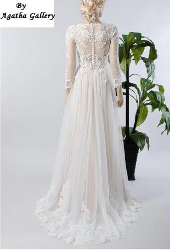 Dlhé svadobné šaty - 12 veľkostí, 15 farieb - Obrázok č. 2